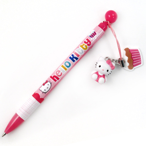 Hello Kitty cupcake charm ballpoint pen for school