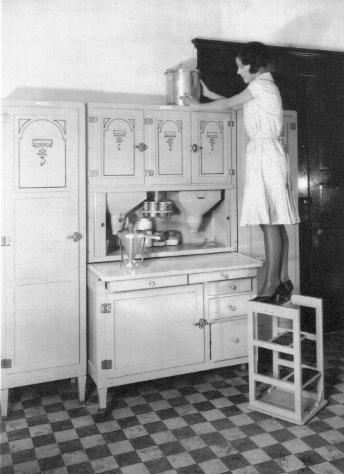 Antiques Attic: HOOSIER STYLE CABINETS