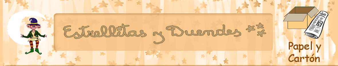 Estrellitas y Duendes Papel y Cartón