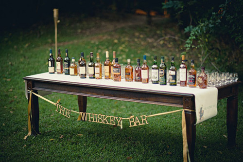 Whiskey bar wedding