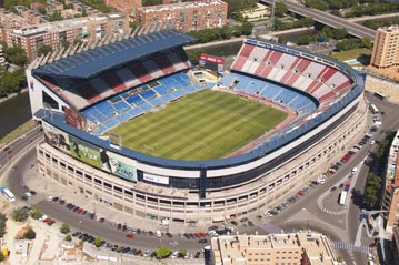 Estadio Vicente Calderón.