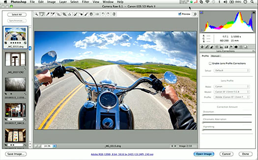 camera raw plugin: