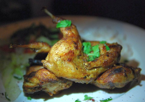 Spicy Grilled Quail with Fennel and Pepper