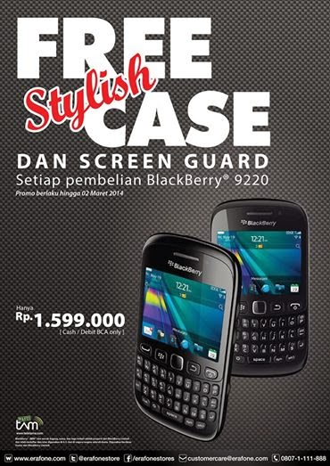 BlackBerry Davis hadiah stylish case dan screen guard