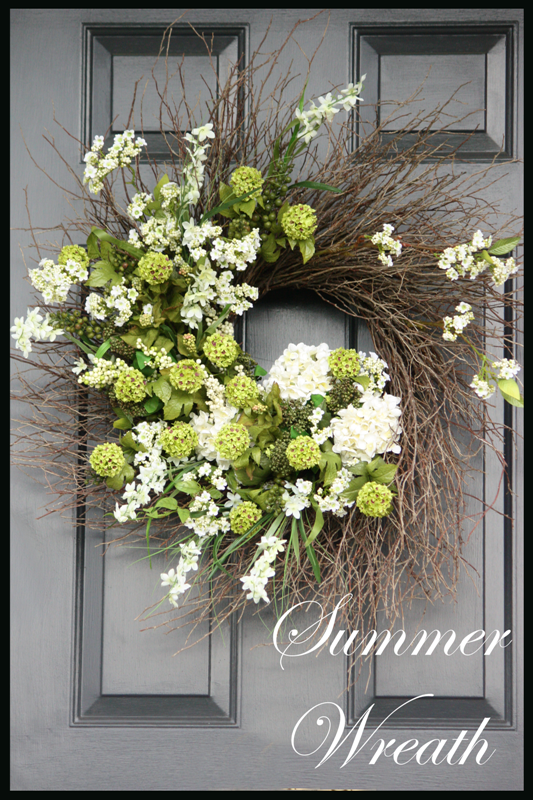 front door decor summerSUMMER WREATH TUTORIAL  StoneGable