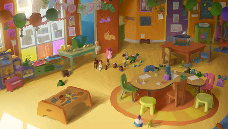 Day Care Toy Story 3 : Living lines library toy story color scripts