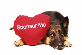 cane pastore tedesco cuscino a cuore sponsor me