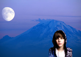 Justin Bieber free wallpapers sad face in Classic Ascent Moon background
