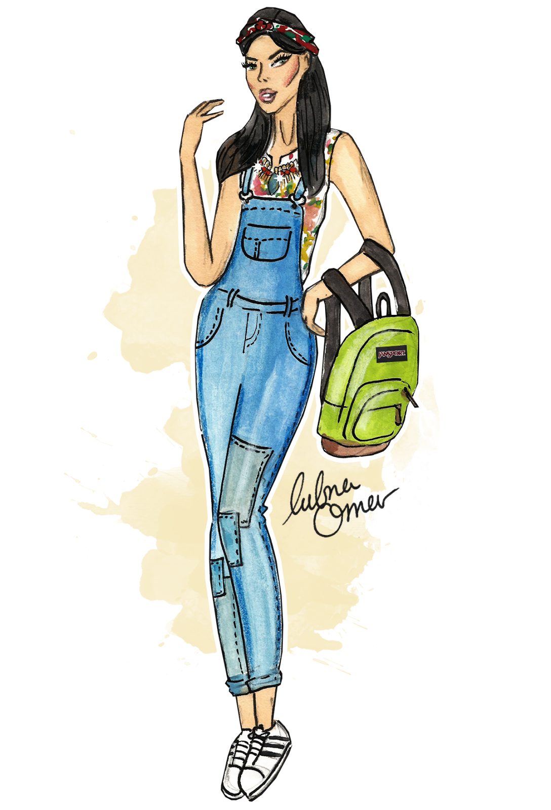 back to school outfit inspiration playful spirits illustration by lubna omar