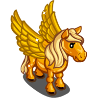 Golden Winged Pony