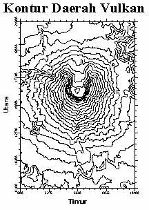 Gambar Peta Kontur Gunung Api | Gambar Peta Geografi Wilayah Kota ...