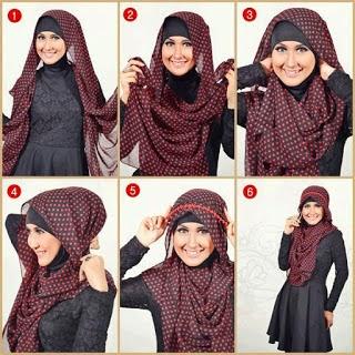 Cara Memakai Hijab Paris Modern Terbaru Dan Mudah