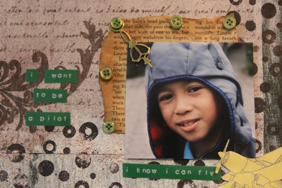 Papier Love I Know I Can Fly A Scrapbook Layout