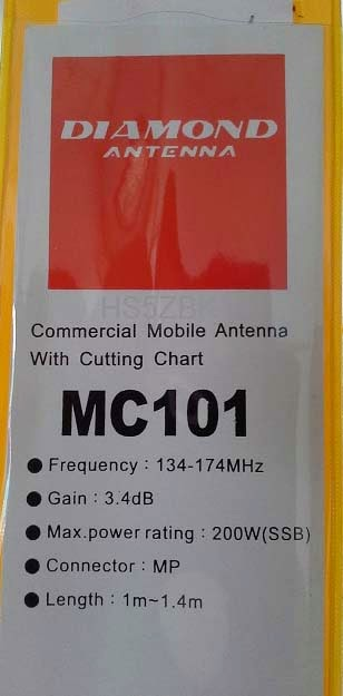 Diamond Antenna MC 101