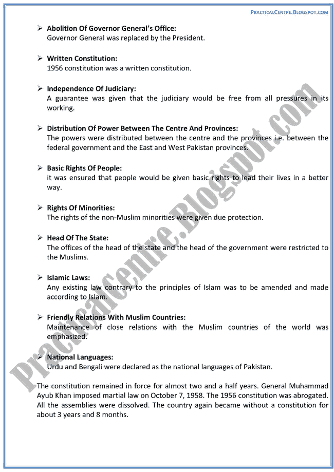 constitutional-development-in-islamic-republic-of-pakistan-descriptive-question-answers-pakistan-studies-9th
