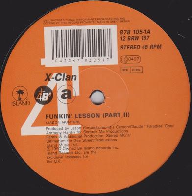 X-Clan – Funkin' Lesson (1990) (VLS) (256 kbps)