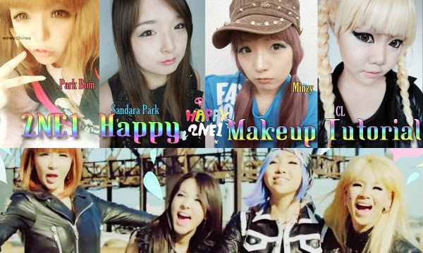 2ne1 CL happy makeup tutorial