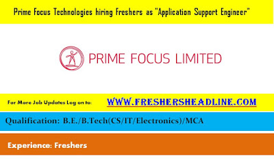 Prime Focus Technologies hiring Freshers