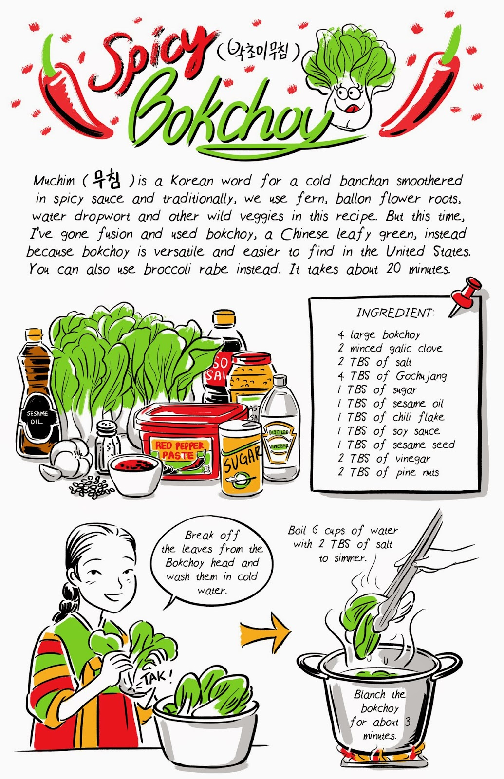 how to say cook in korean