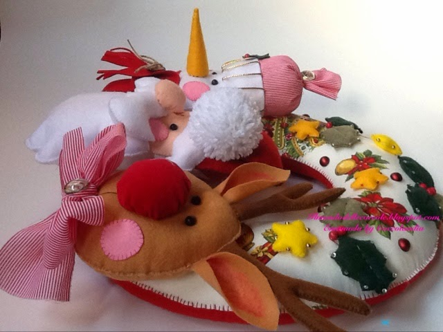 Ghirlanda  Natale feltro pannolenci handmade