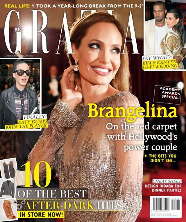 Angelina Jolie en portada de Grazia Magazine marzo 2014
