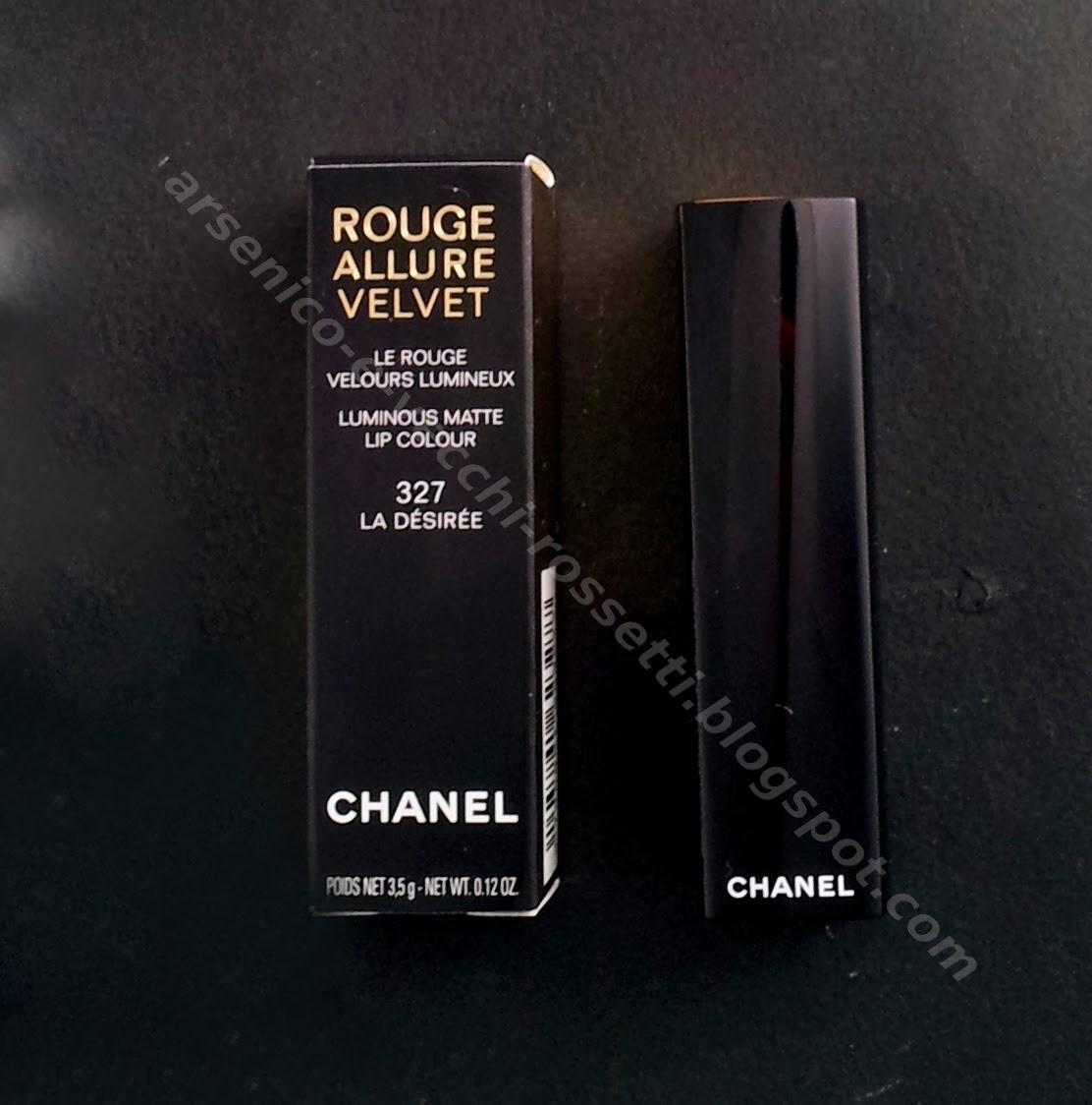 Chanel rossetto Rouge Allure Velvet #327 La Désirée