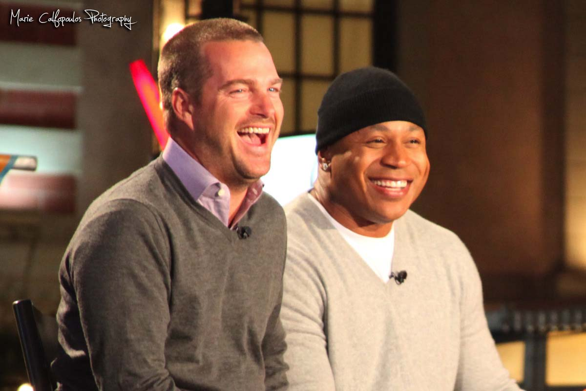 Ncis los angeles fan cast at the grove