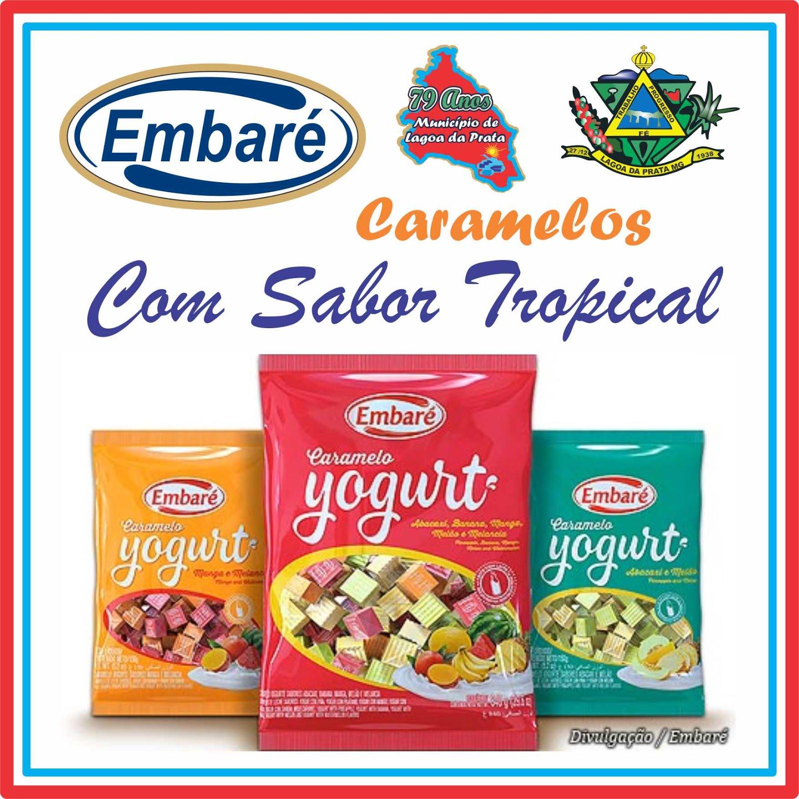 Caramelos de Leite Com Frutas Tropicais
