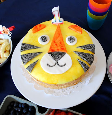 retro tiger birthday cake