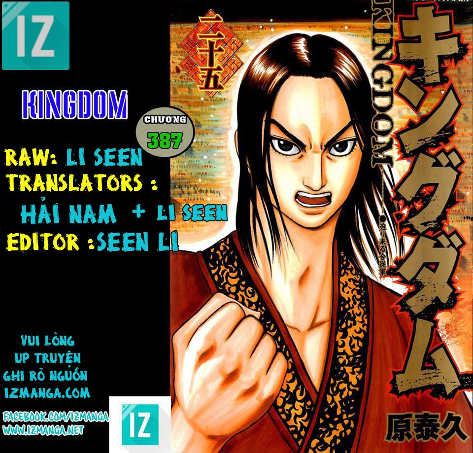 Kingdom – Vương Giả Thiên Hạ (Tổng Hợp) chap 387 page 1 - IZTruyenTranh.com