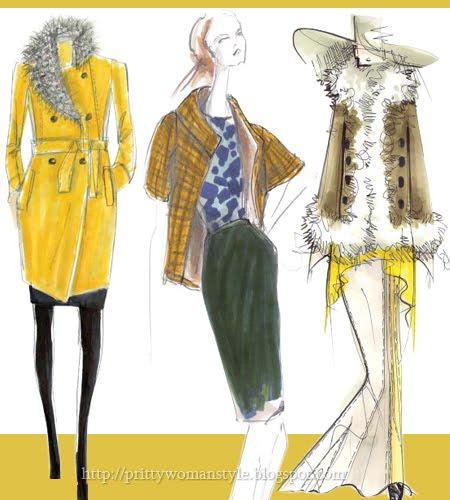 Дамска Мода Есен 2011 жълто-зелено цвят бамбук