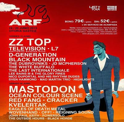 El cartel definitivo del AZKENA ROCK FESTIVAL 2015