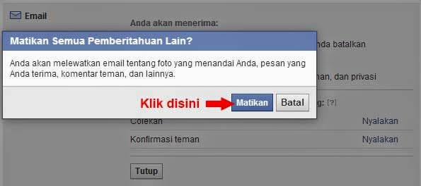 Cara Agar Pemberitahuan Facebook Tidak Masuk Ke Email