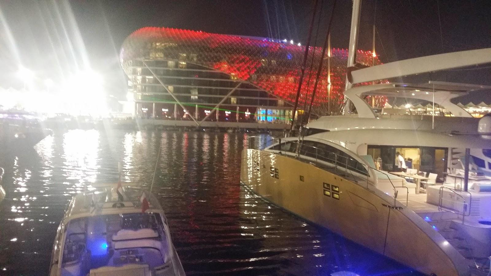 View of Yas Marina Hotel and Yachts
