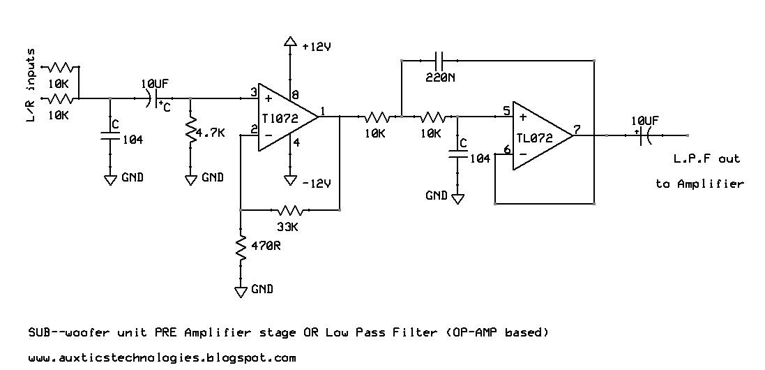 Circuit Diagram Of Low P Filter   Auxtics Technologies 2015