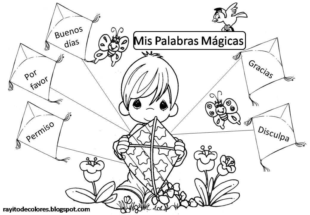 Rayito de Colores: Carteles de Palabras Mágicas
