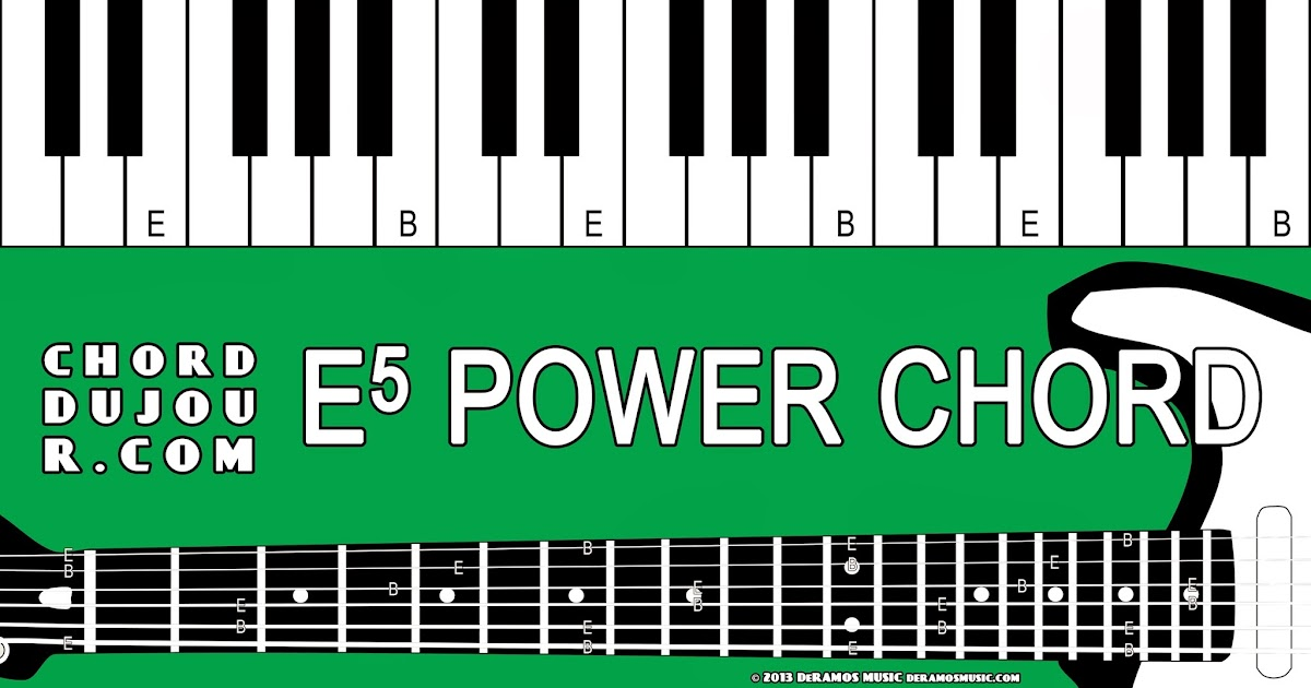 Chord Du Jour Dictionary E5 Power Chord