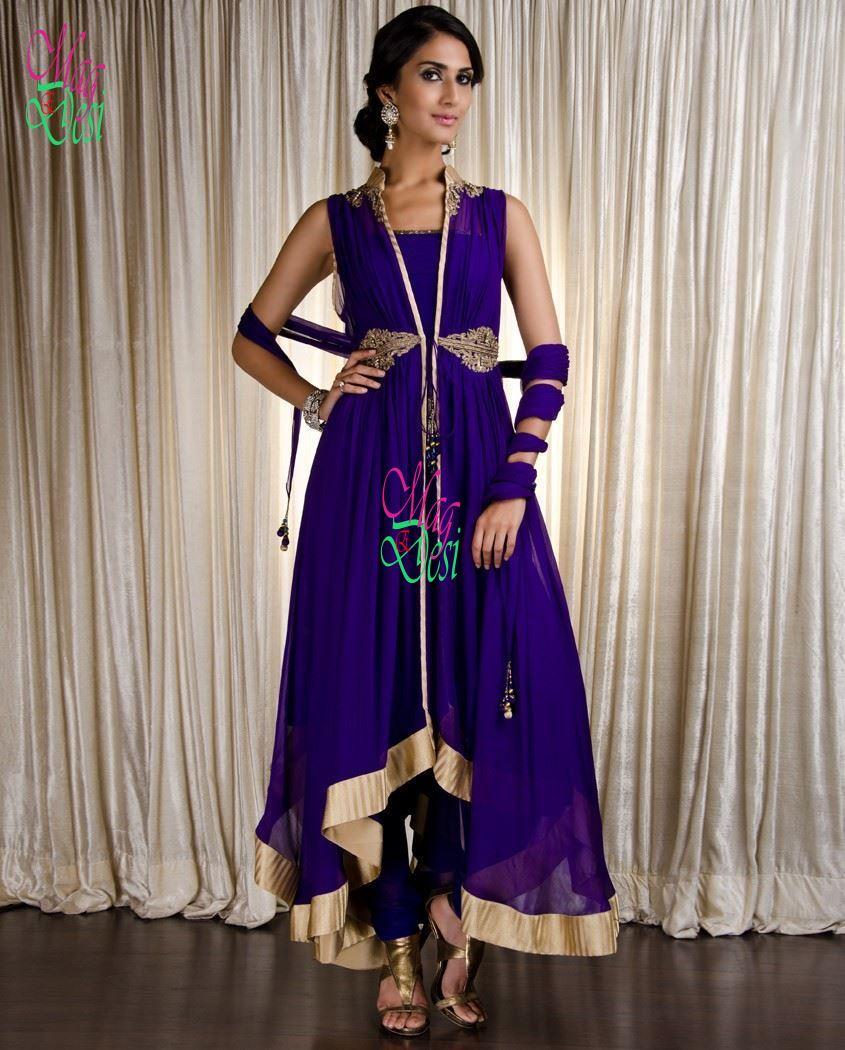 Anarkali & A Line Frocks with Churidar Pajama-1 ~ DesiEMag