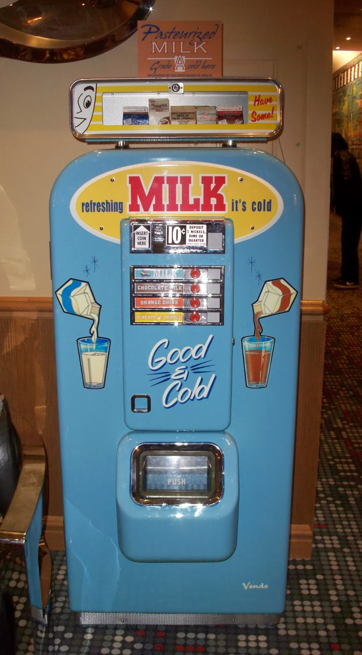 Retro Suites, Chatham Ontario, hotel, inn, tourist attraction, lobby, milk machine, retro, art