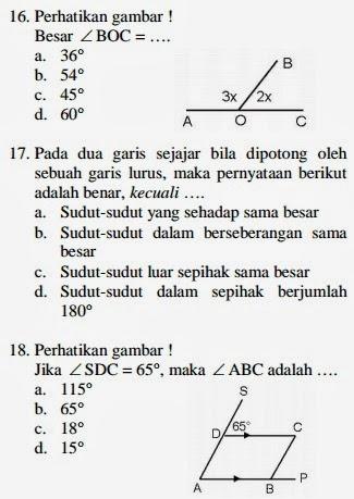 4 Soal Matematika Soal Ujian Kenaikan Kelas Matematika Kelas Tujuh