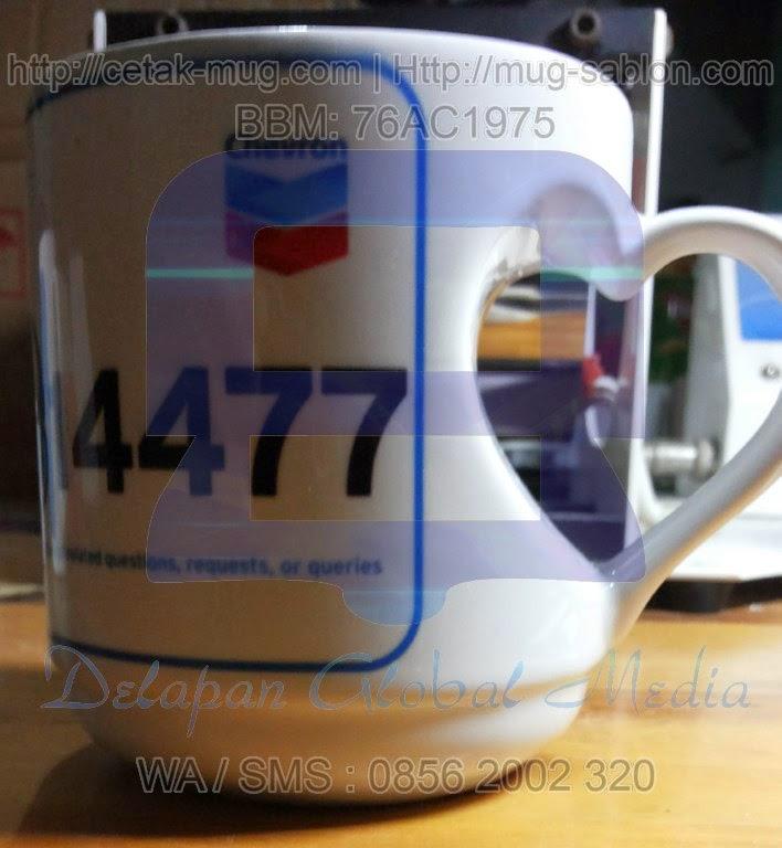 Souvenir Cetak Mug Tea Sablon Promosi
