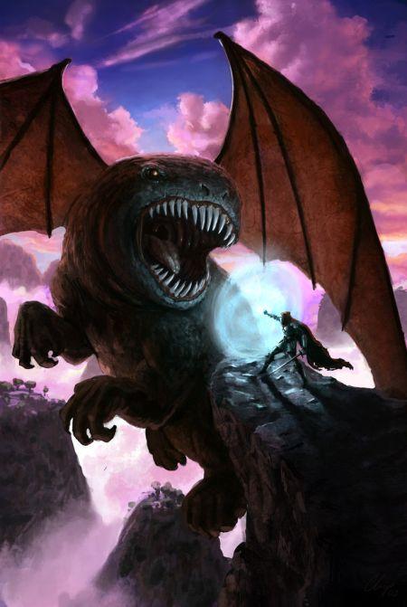 Timo Mimus crackbag deviantart ilustrações fantasia arte conceitual Dragão vs. Cavaleiro