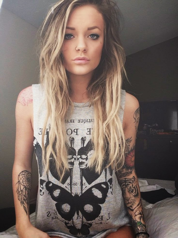 girl tattoo sleeve