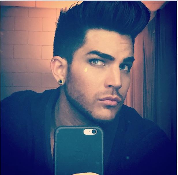 Adam lambert tweet instagram london selfie check my for Adam lambert tattoos