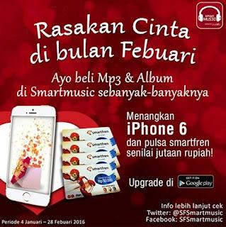 Beli Mp3 dan Album di Smartmusic Berhadiah iPhone 6 dan Jutaan Pulsa