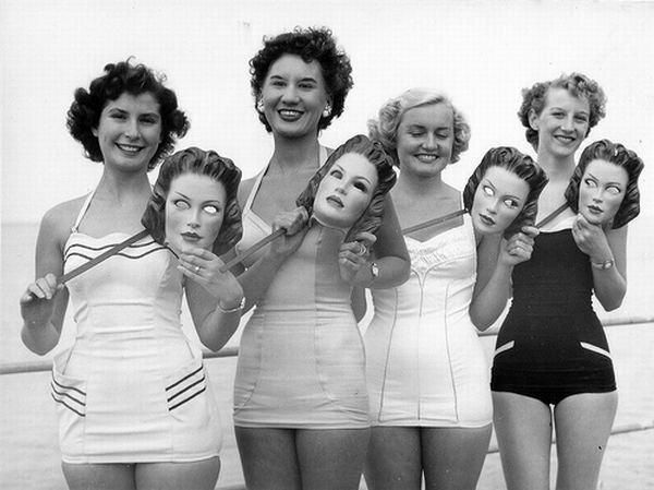 фото - девушки в купальниках ретро
