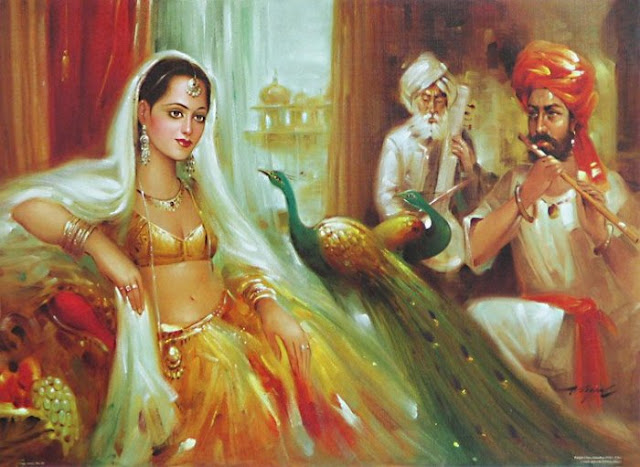 Rajasthani Girls Art Paintings 23