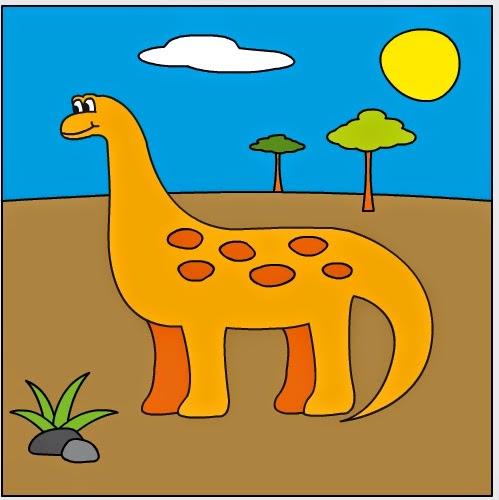 Colorea un dinosuario