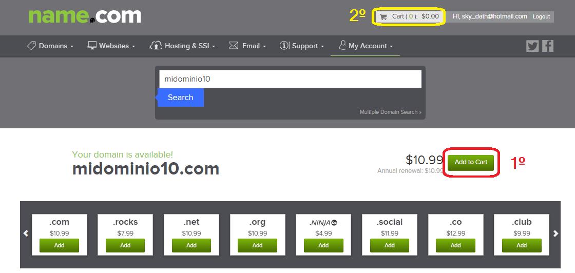 registrar dominio en name.com