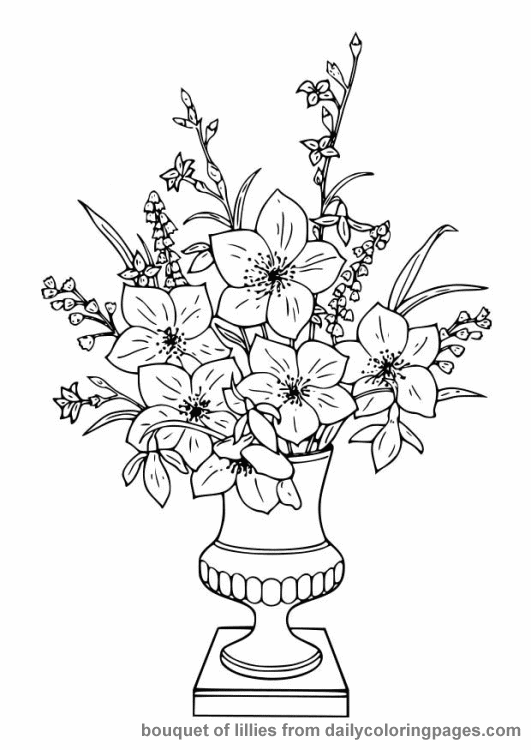 free advanced flower coloring pages - photo#10